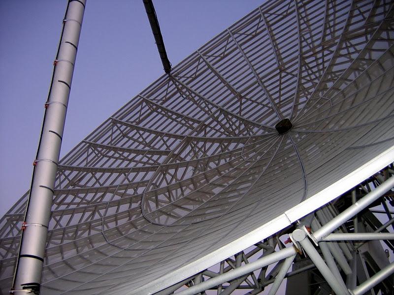 The 40-foot diameter telescope, up close