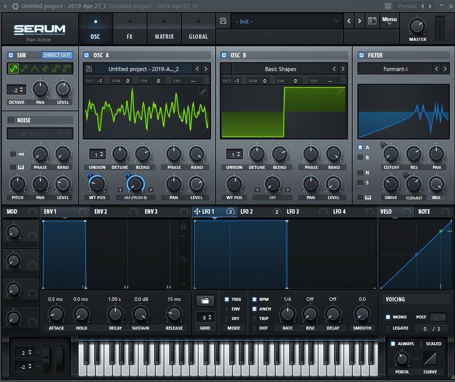 5. Add other effects to produce desired results.   At this point, you'll have a synth that sounds okay, albeit a bit bizarre. Here are a few tricks I used to achieve the 'finished result'.  a) Change  WT POS  on OSC A. This will change the currently playing wavetable. For bonus points, hook it up to one of the LFOs to automate it.  b) Use Serum's built in  FX tab  to hone in on the sound you want. I used distortion, a compressor, and some reverb. Be aware that these tools won't make your synth sound amazing unless you know how to use them.  c) Use an  EQ  or  Filter  to remove unwanted frequencies.  I'll go into tools like Distorion, Compressors, and Reverb on another day. I suggest playing around with your new synth as much as possible!  Seriously, tweak those knobs to the limit and try to make a sound that you are proud of. If you do, post it in the comments or    Discord   .