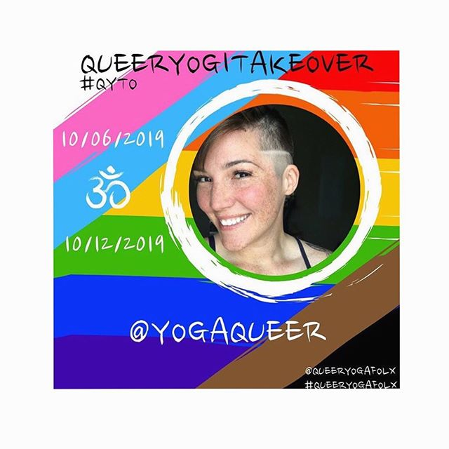 Catch me taking over the @queeryogafolx Instagram for the next week!  If you are part of the queer yoga community in any way, be sure to put your name on their list and sign up for your takeover week. Visibility is incredibly important. They're booking 2020 now! 🌈🙏🏼♥️ #qyto #queeryoga #queeryogafolx #queeryogatakeover