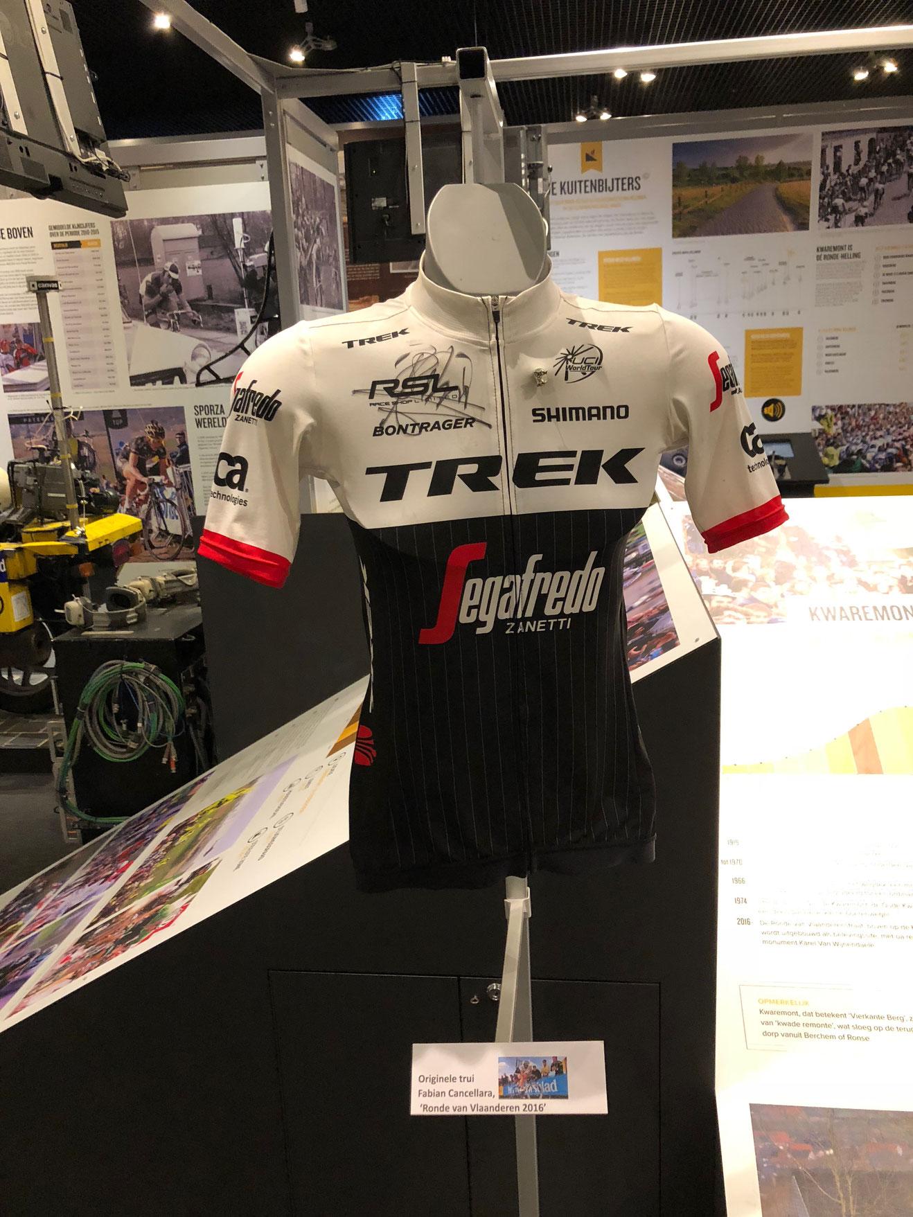 """Original-Trikot von Fabian Cancellara von der """"Ronde"""" 2016."""