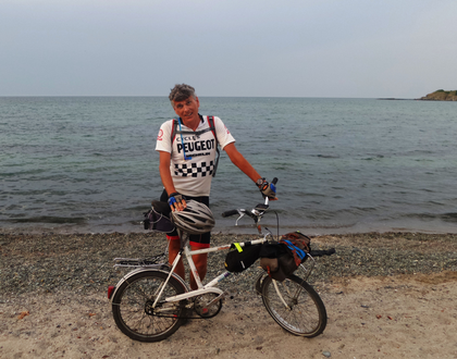 Angekommen am Schwarzen Meer in Bulgarien, nach 8558 Kilometern.