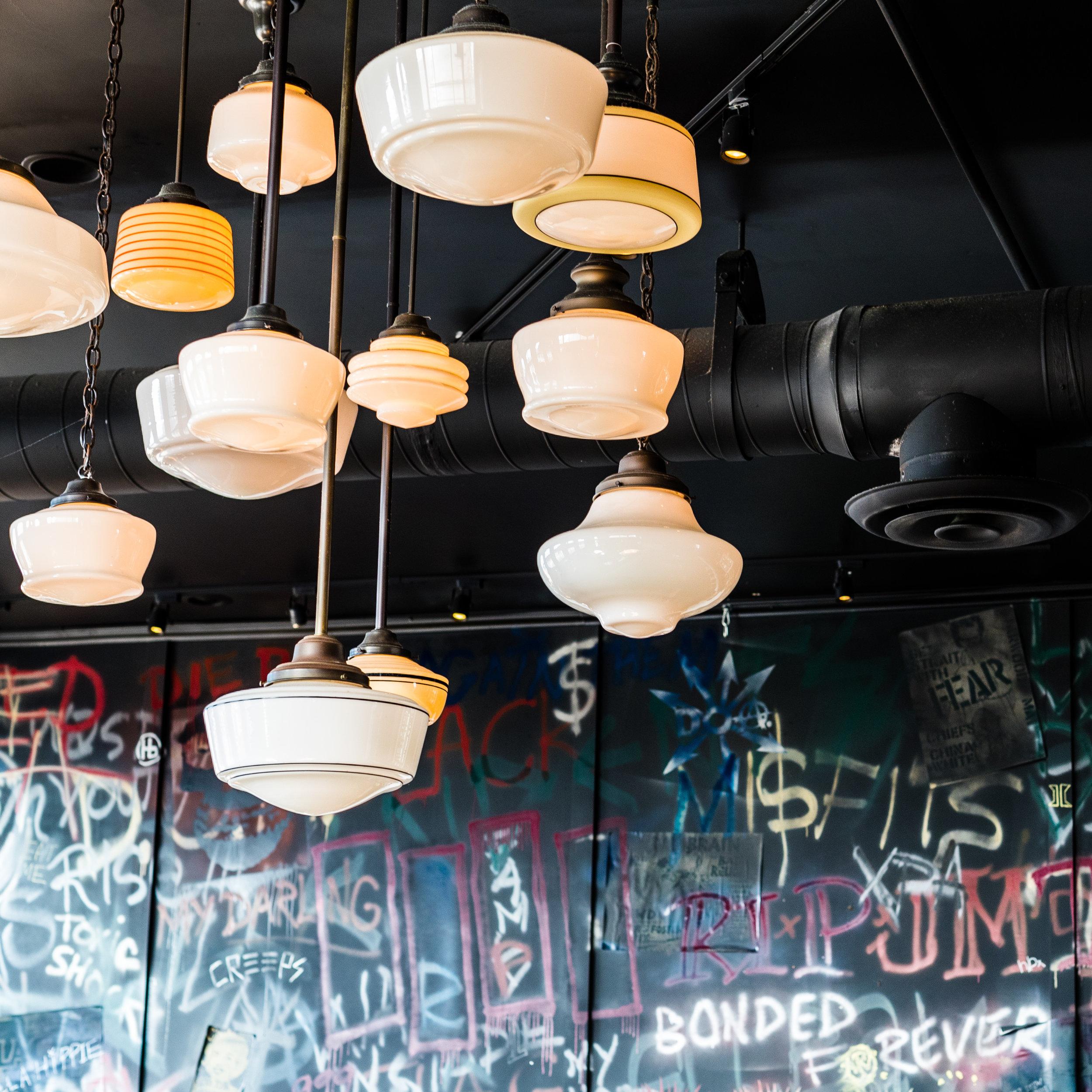 Hanging Lights at Abigaile