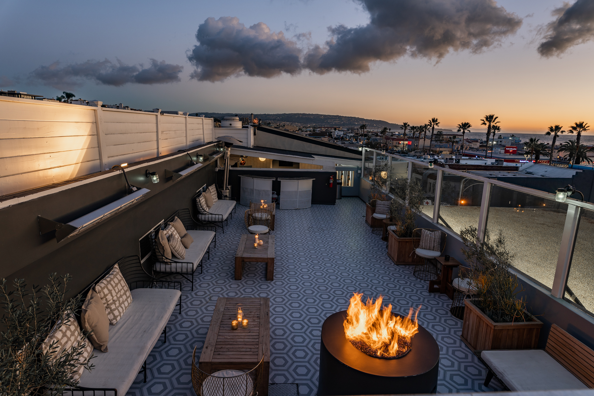Roof deck at Ocean Bar