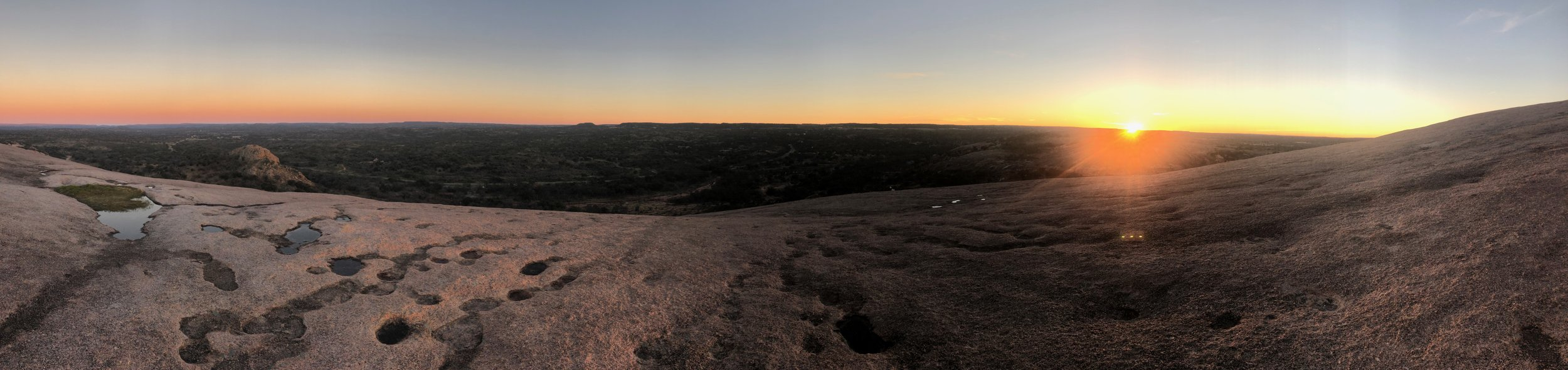 Sunset at Enchanted Rock - Texas Hill Country 2019
