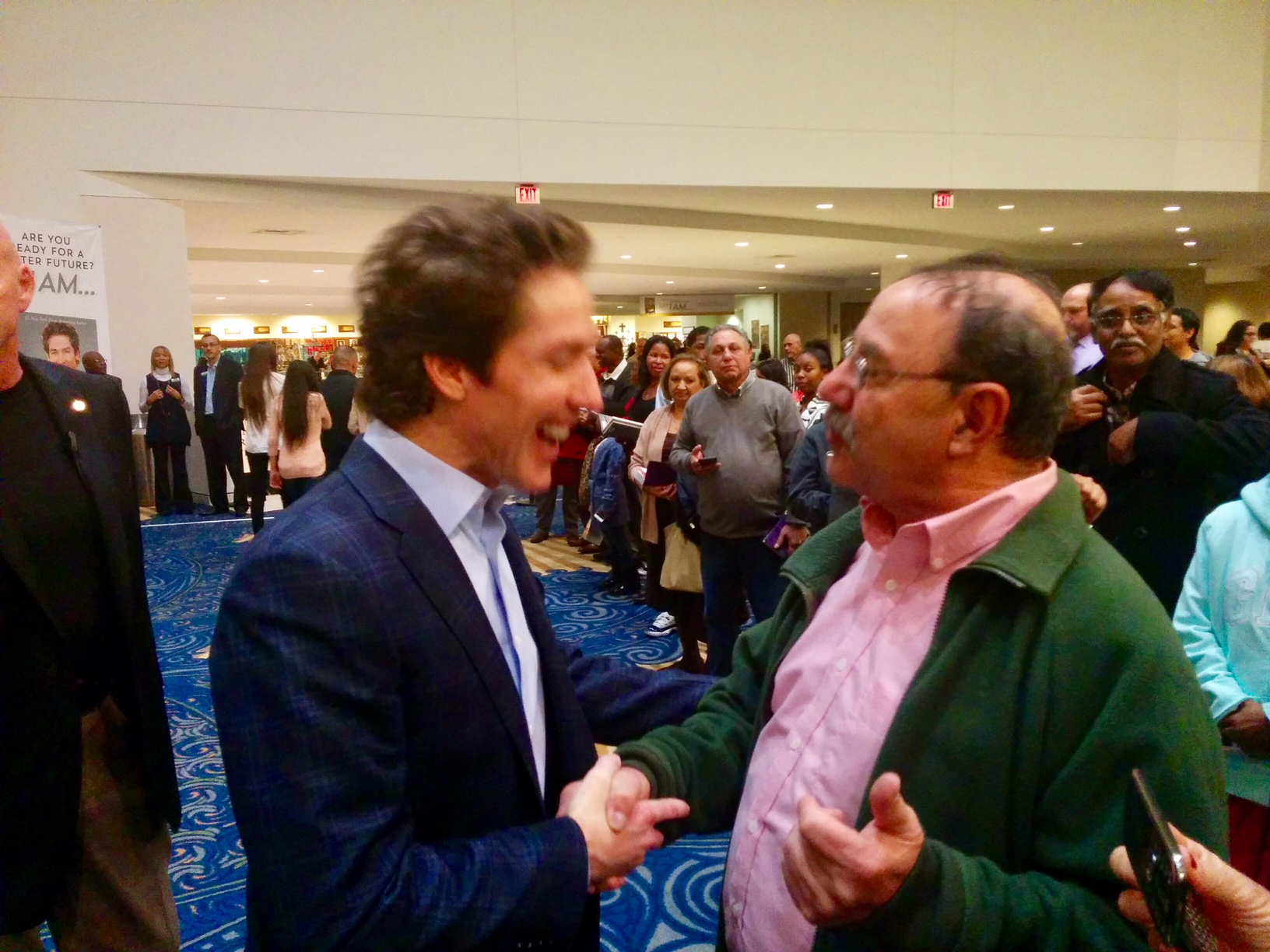 Jim Musso with Joel Olsteen before coaching