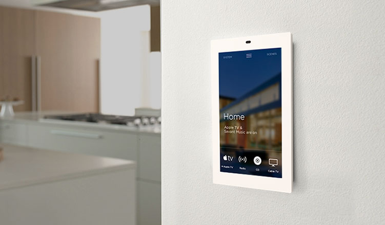 8 inch touch screen in portrait orientation with intercom