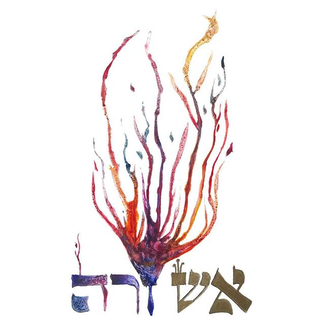 This week we read of the tragic death of Aaron's sons, Nadav and Avihu. Approaching the altar with their fire pans in an offering to G!d, they were consumed by an overwhelming fire. Perhaps this tragic episode can be viewed differently when we look at the words closely. Since the words לִפְנֵ֥י יְהוָֽה, before G!d, appear three times in this small passage, it may be that the fire that Nadav and Avihu were consumed by was not a punishment from G!d, rather a divine light too bright for humans to witness. We understand further through the Biur Halacha who explains that, though they had best intentions, Nadav and Avihu violated the boundaries that were in place to keep them safe.  The word קְדֻשָּׁה, usually translated as holiness, at its root means to separate, distinguished, or set apart. As with any relationship, in order to truly connect to G!d, we need boundaries and containers. What are the structures and boundaries you need in your relationships to keep you grounded?