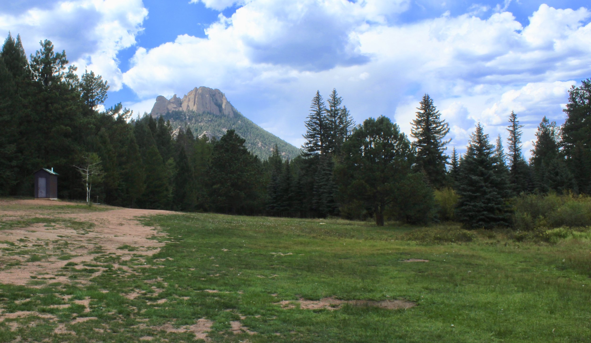 View of the Castle from the large camping area in Royal Elk Meadow.