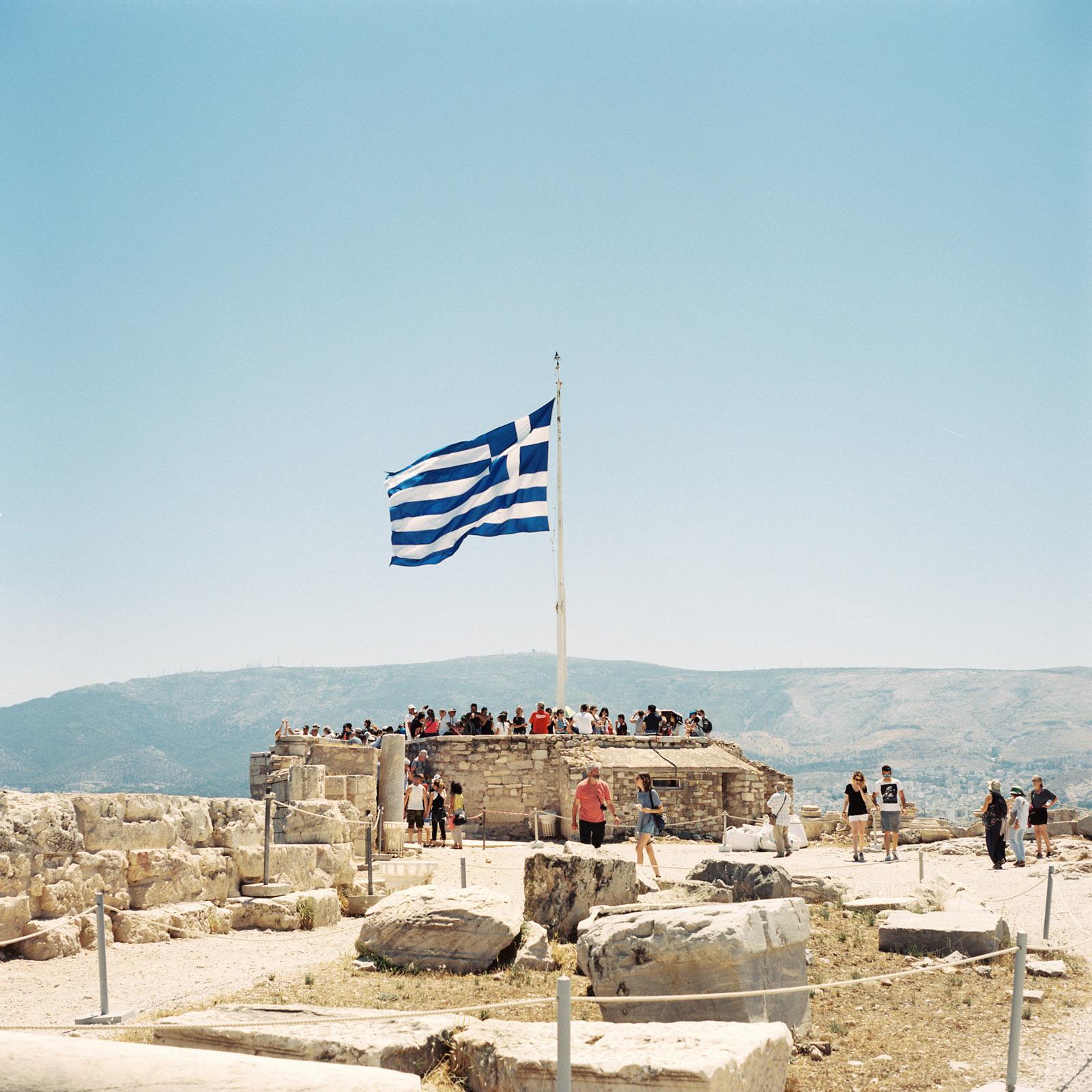 Greek Flag Parthenon