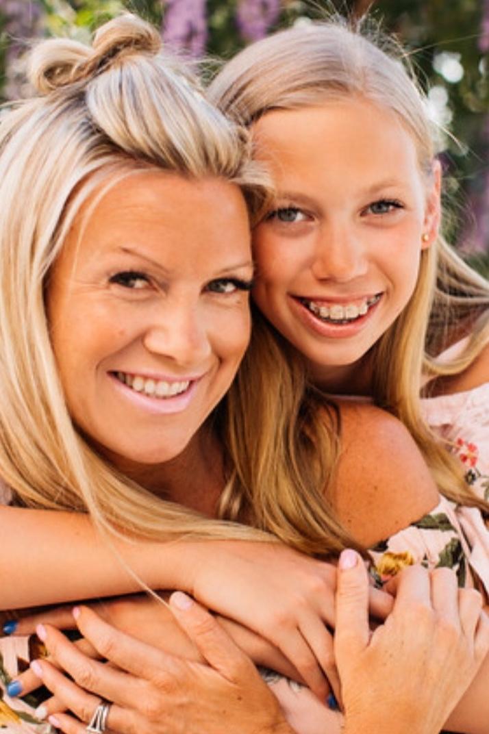 Beret & daughter, Mia