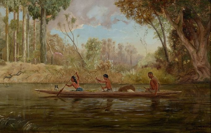 IMAGE: Early Spring; or, A Narrow of the Waikato River, 1881, Auckland, by Kennett Watkins. Purchased 2000 with New Zealand Lottery Grants Board funds. Te Papa (2000-0022-1)