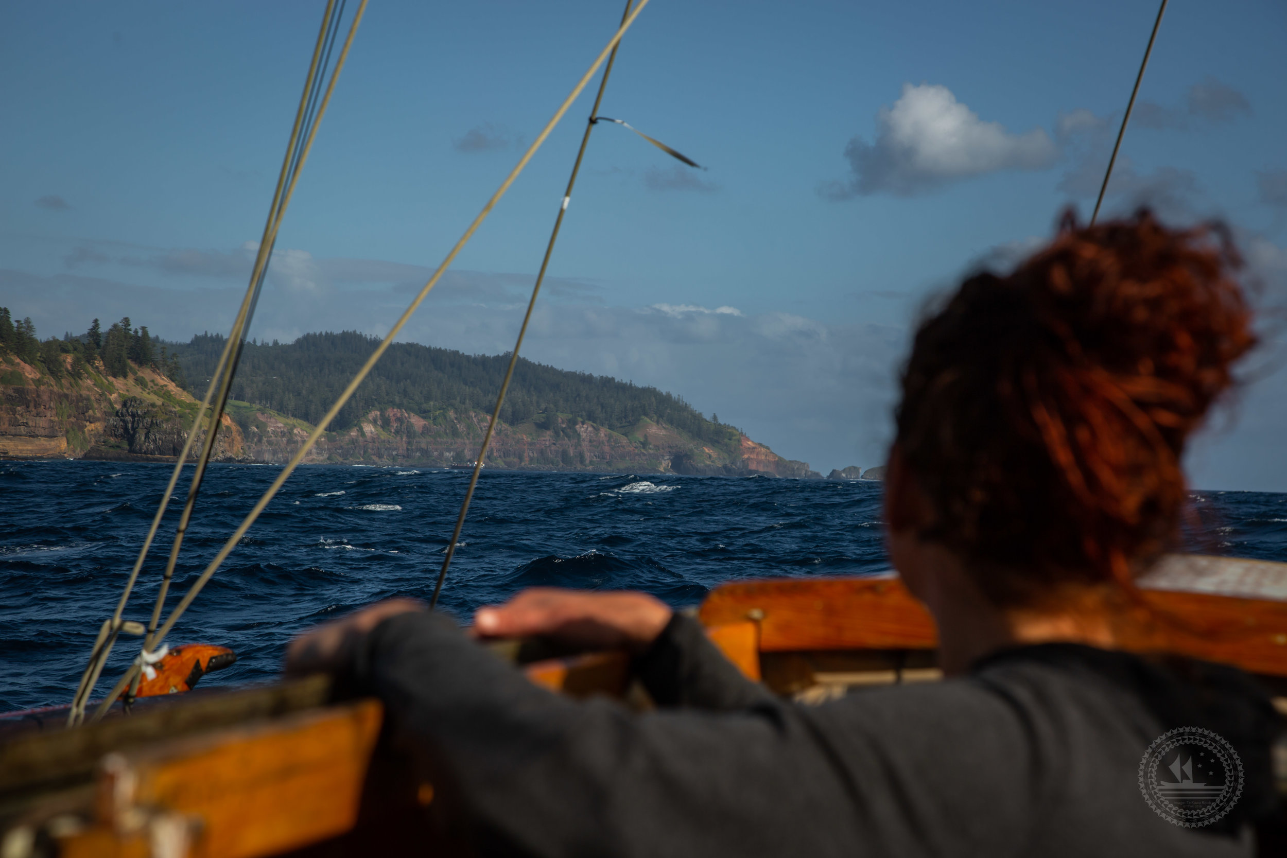 Norfolk Island : navigating to Norfolk Island. Photo supplied by Te Kawa Robb.