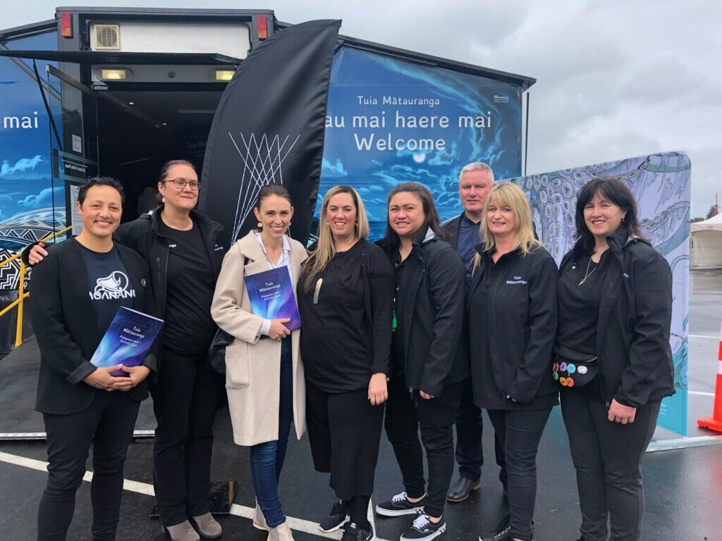 Tuia Mātauranga Roadshow opening : Prime Minister Jacinda Ardern officially opened the Tuia Mātauranga roadshow in Gisborne on Sunday 6 October. You can view her video from inside the roadshow on her  Facebook page