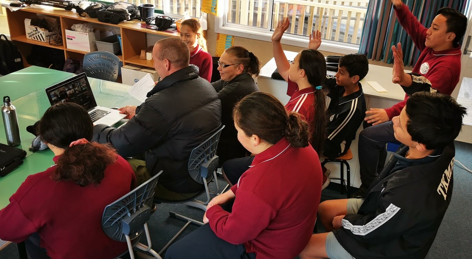Map My Waahi:  Students at Te Kura Māori o Porirua talking about the value and meaning of pepeha as part of the Map My Waahi virtual field trip (June 2019).