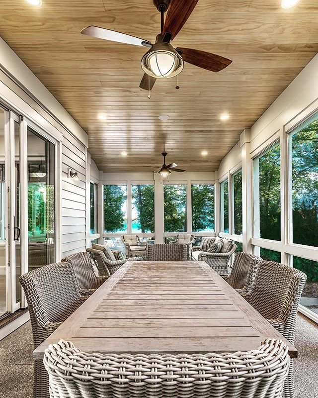 Lux Screened-in-Porch, equipped for long hours of relaxing or entertaining. #porch #inspo #michiganbusiness #homebuilder #qualitytime #homesweethome