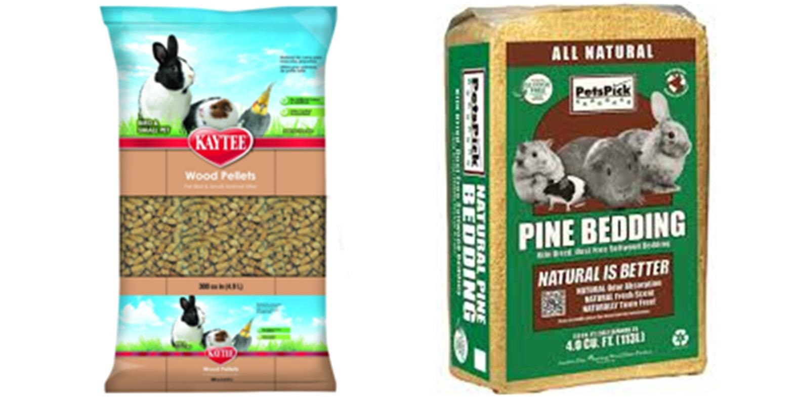 Wood pellets and pine bedding, both highly recommended options.