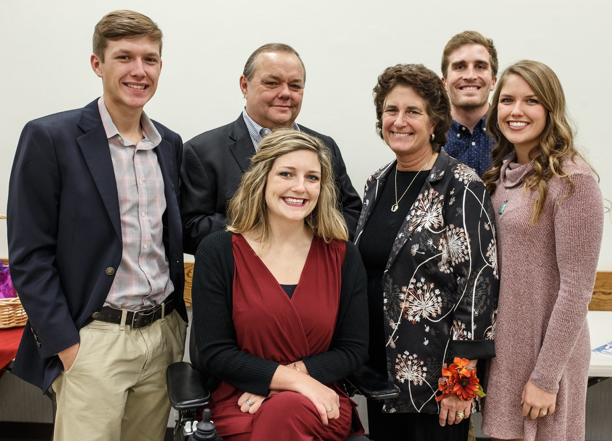 Grace with her family celebrating her mother's The Republic's Woman of the Year award in 2018.