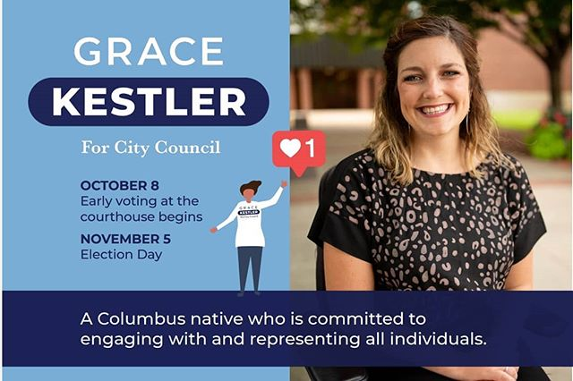 We're just over a month out from the election! I can't believe how quickly time has flown this past year! We are definitely in crunch time! ⏳ If you have a bit of extra time, the campaign could definitely use your support! Send us a message if you can knock on doors, write postcards, walk in the parade, work at the polls Or donate! But, most importantly, VOTE! Your vote is your voice and it's absolutely crucial to take part in this process. ☑️ I'm so incredibly thankful for the endless support that has been coming in this year. We have an amazing City and I'm excited for the opportunity to serve!! 🙌  #electgrace #votegrace #columbus #vote #representationmatters #rockthevote #ballot #adventure #advocate #campaign #indiana #politics
