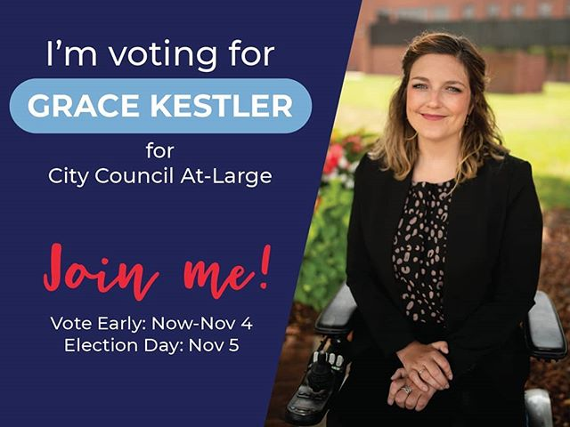 It's finally here!! It's time to vote!! Get to the courthouse for early voting every weekday, now through 11/4.  #votegrace #indiana #vote #columbus #votetoday