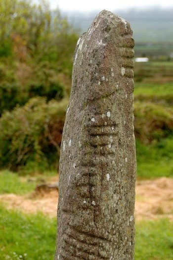 Irish Ogham Alphabet - A gift from the Celtic god Ogmios, or the god of eloquence. Ogham is an ancient alphabet that appeared in Ireland at least 1,600 years ago. It was used to inscribe primitive Irish onto stone monuments, the oldest known form of the Gaelic languages. The true origin of the alphabet remains a complete mystery.