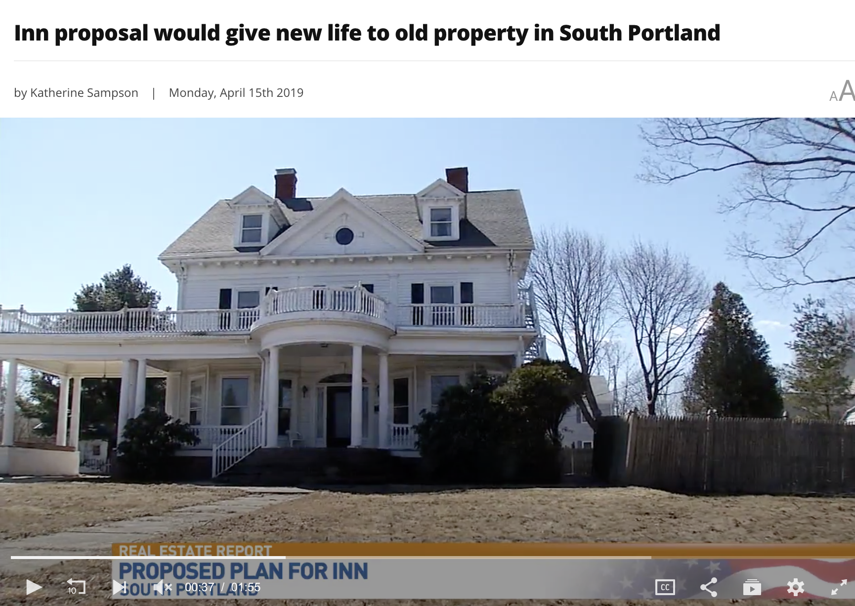 Saving a beautiful property on Cottage Road in South Portland.