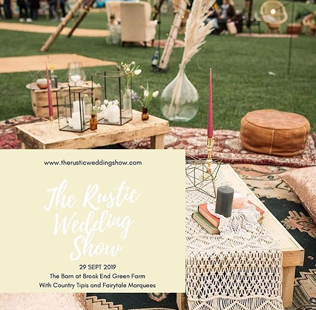 SAVE THE DATE!  Sunday 29th September  The Rustic Wedding Show The Barn at Brook End Green Farm Barton Le Clay • MK45 4SE • Come and see the amazing suppliers for all your wedding inspiration. Organised by @therusticweddingshow ❤️