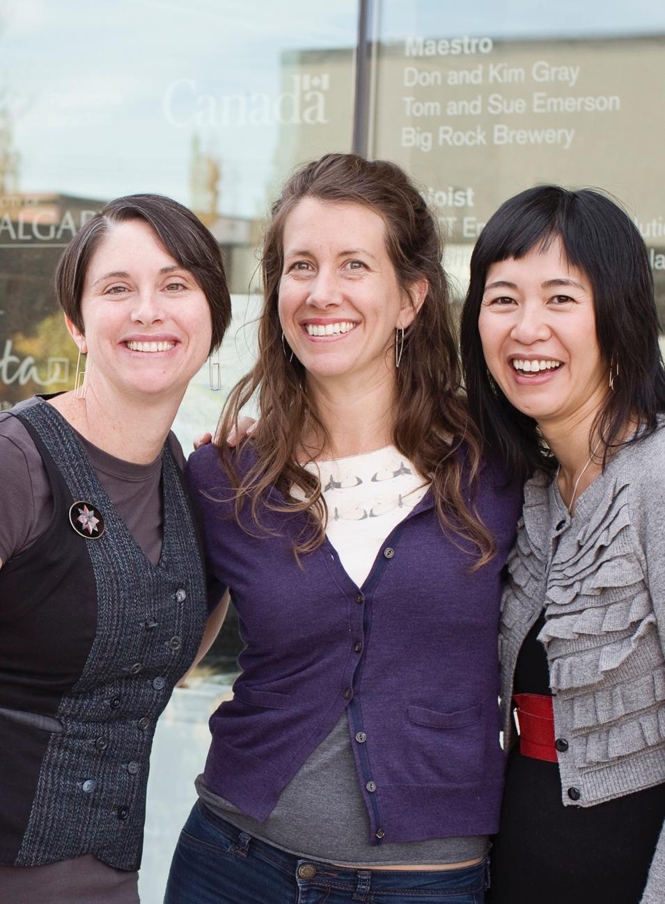 Natalie Gerber, Laura Sharp, Kari Woo