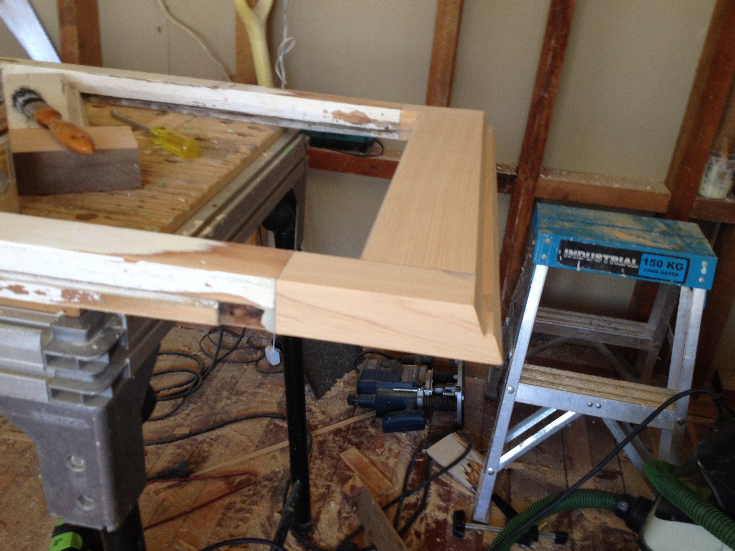 Repair in Cedar to rotten sash