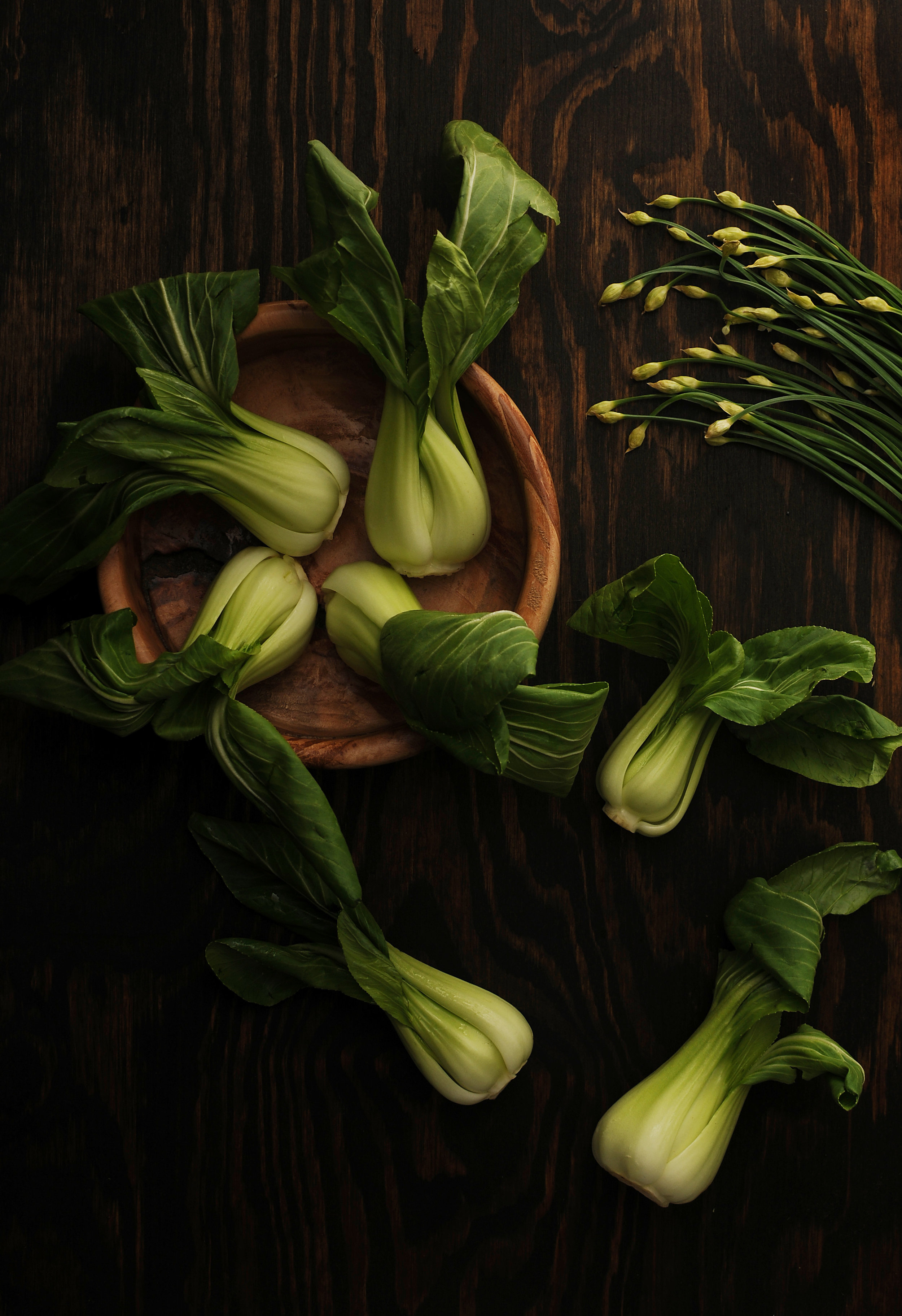 Bok choy - Bok Choy is an excellent source of fiber, Vitamin A, Vitamin B6, Vitamin C, Vitamin K, beta-carotene, as well as folate, and calcium. It is one of the top anti-inflammatory foods, which allows it to reduce the risk for conditions like heart disease. It can also help prevent cancer. Overall, it is considered one of healthiest leafy green vegetables.