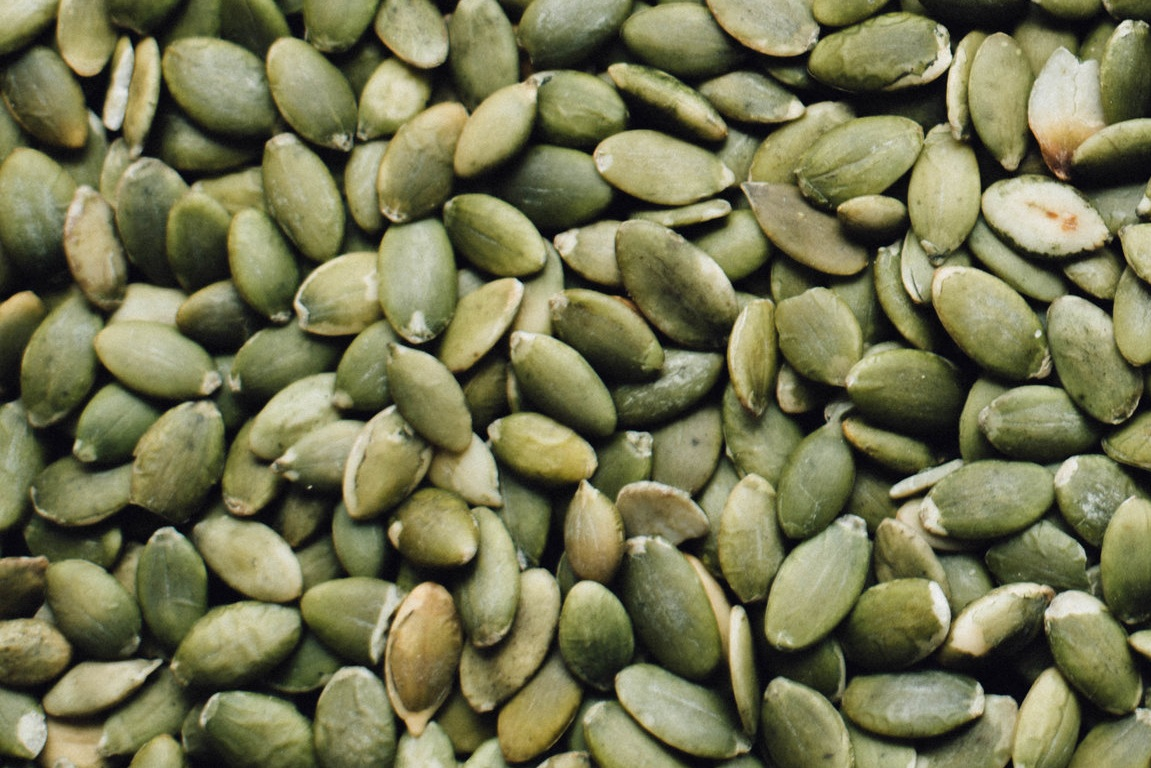 """Pumpkin seeds - Pine nuts are a great source of the B complex vitamins, Vitamin E, copper and magnesium. Pine nuts help lower LDL """"bad cholesterol"""" and help raise HDL """"good cholesterol."""""""