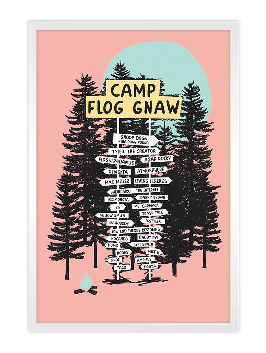 Camp Flog Gnaw - Screenprint Music Festival Poster, 2015
