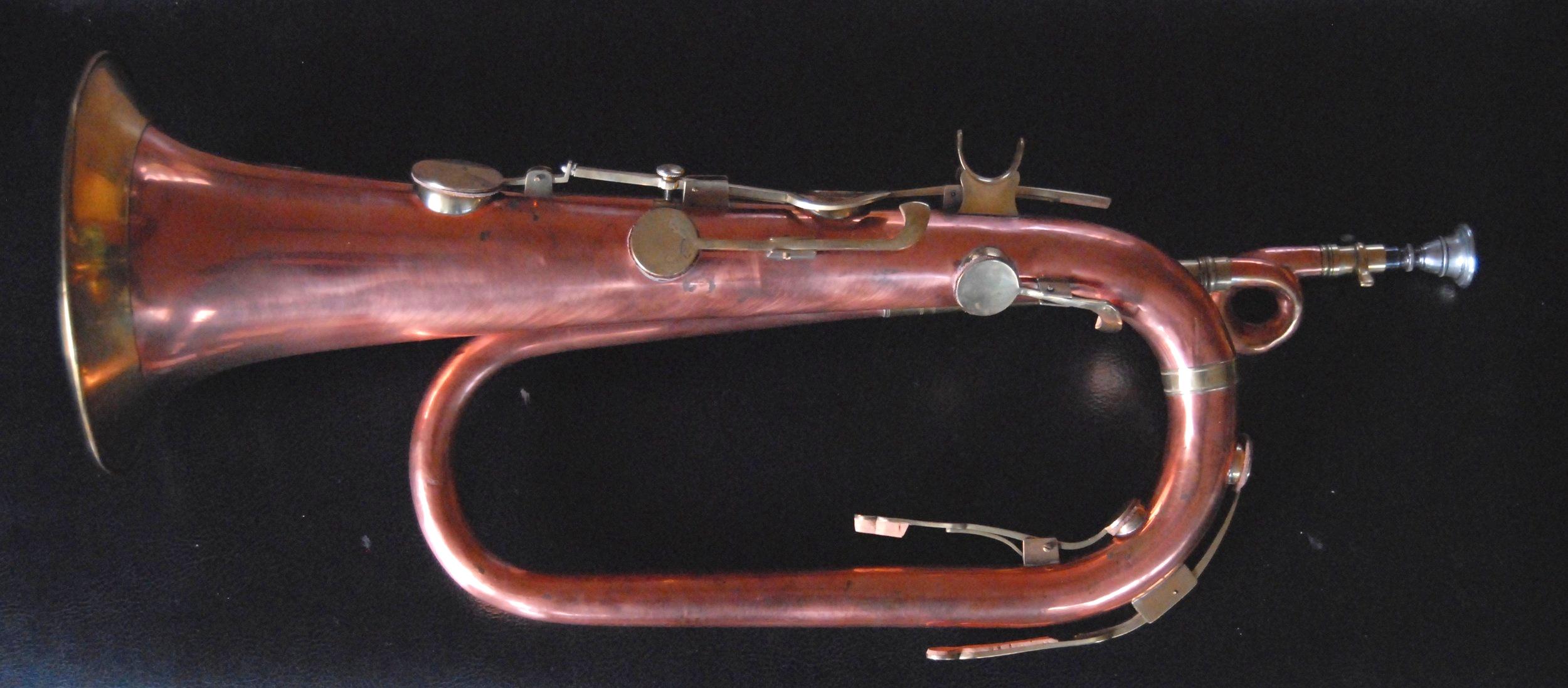 Christman six key Bb keyed bugle