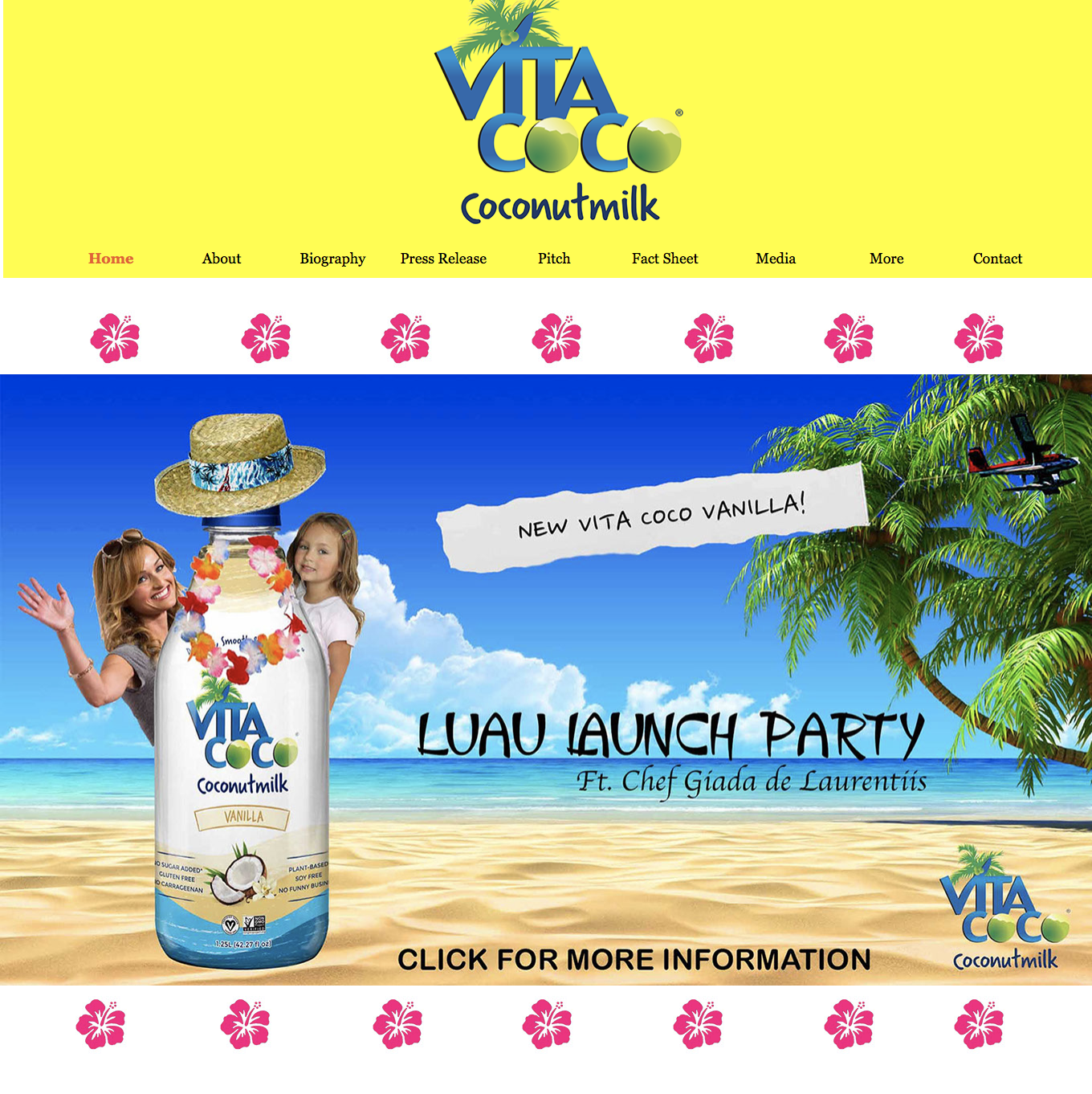 Vita Coco- Electronic Press Kit   Included: Website Mock-Up, About, Biography, Pitch, Fact Sheet, and Media Alert  Group Project 1