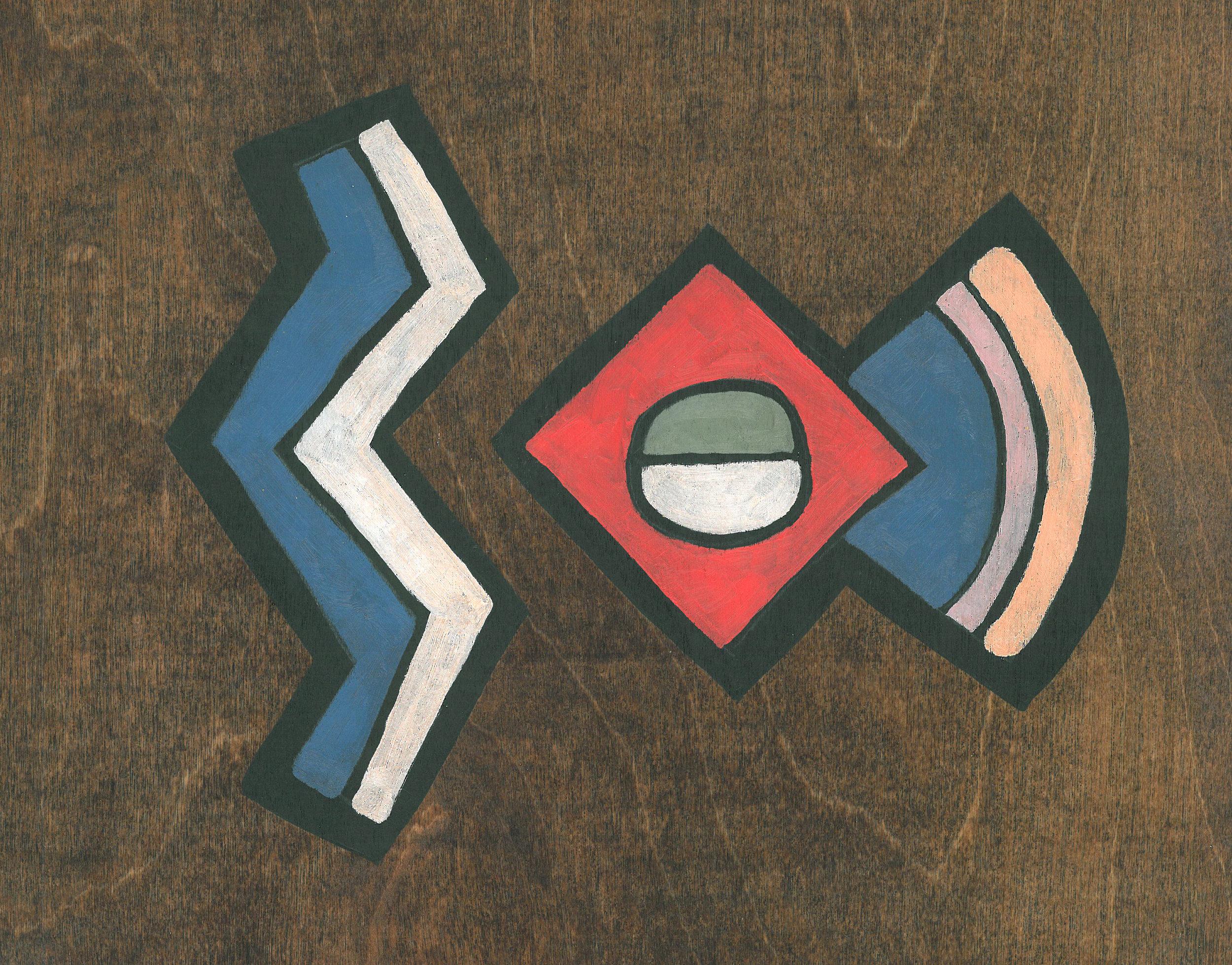 Art Deco on Wood #2