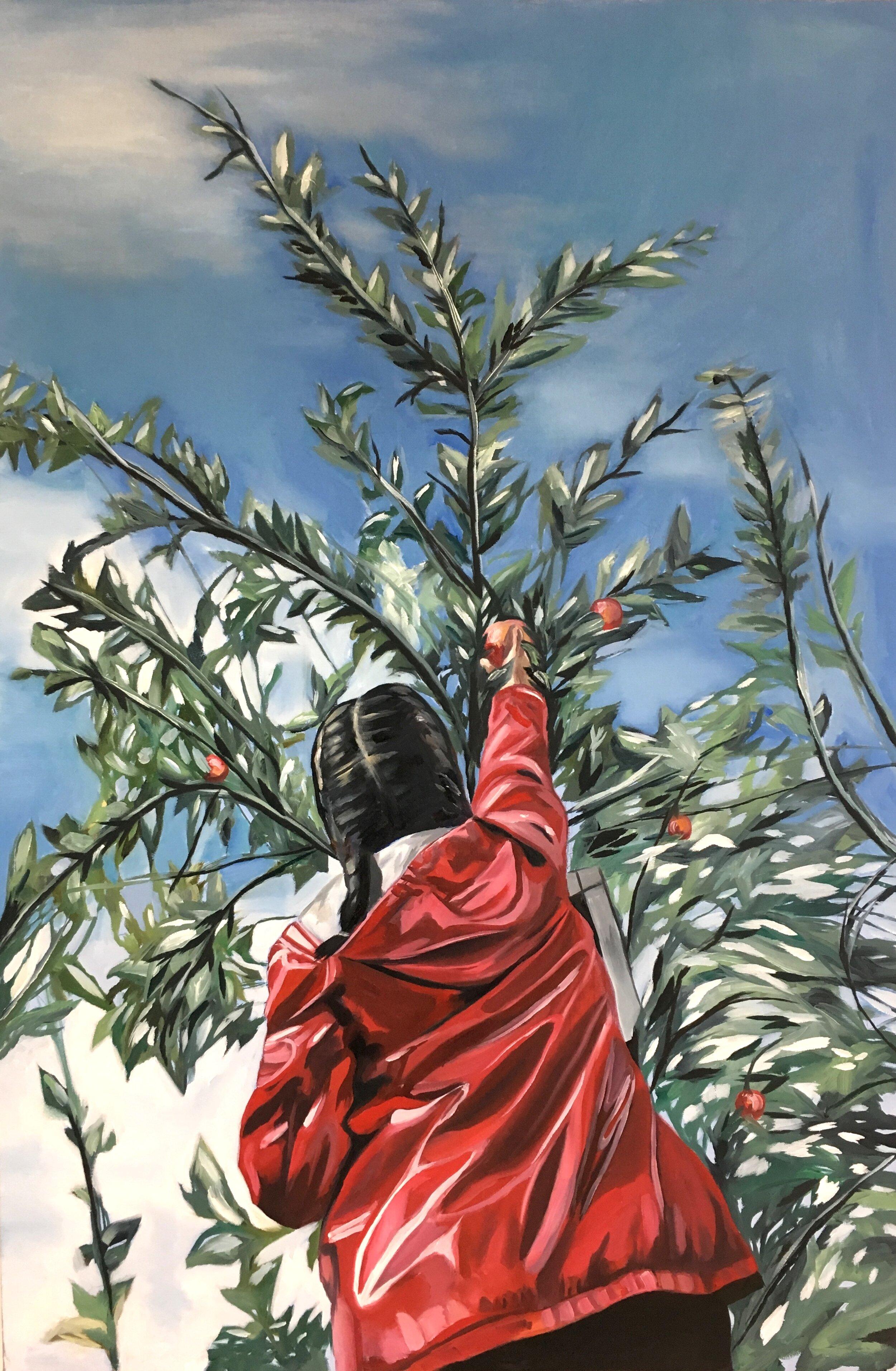 """Reach   Oil on canvas  24"""" x 36"""""""