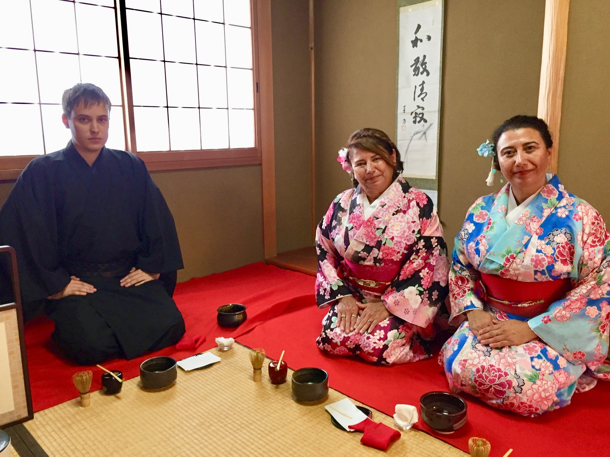 Traditional Tea Ceremony in Fushimi Inari, Japan.