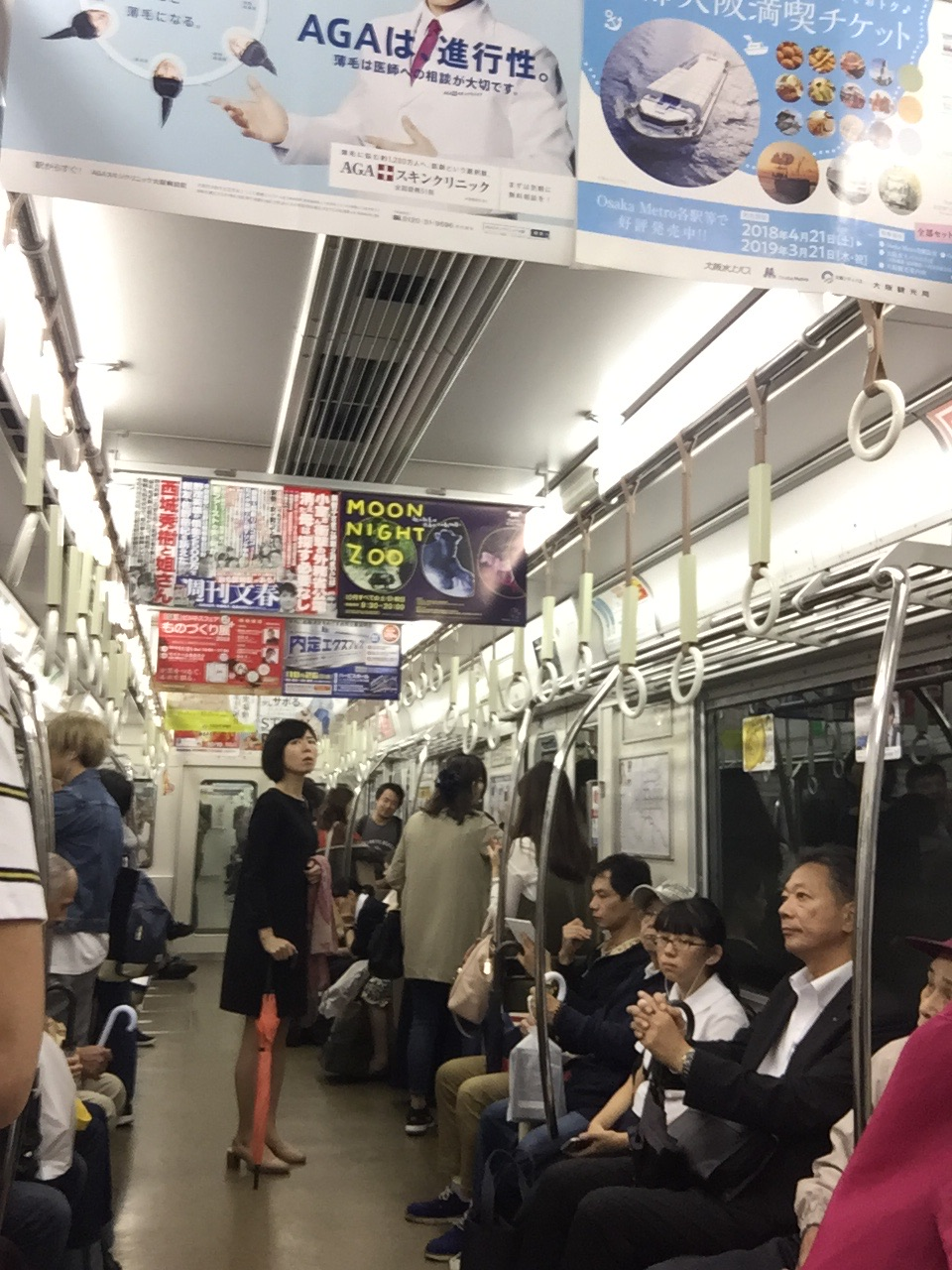 Subway train during commute.