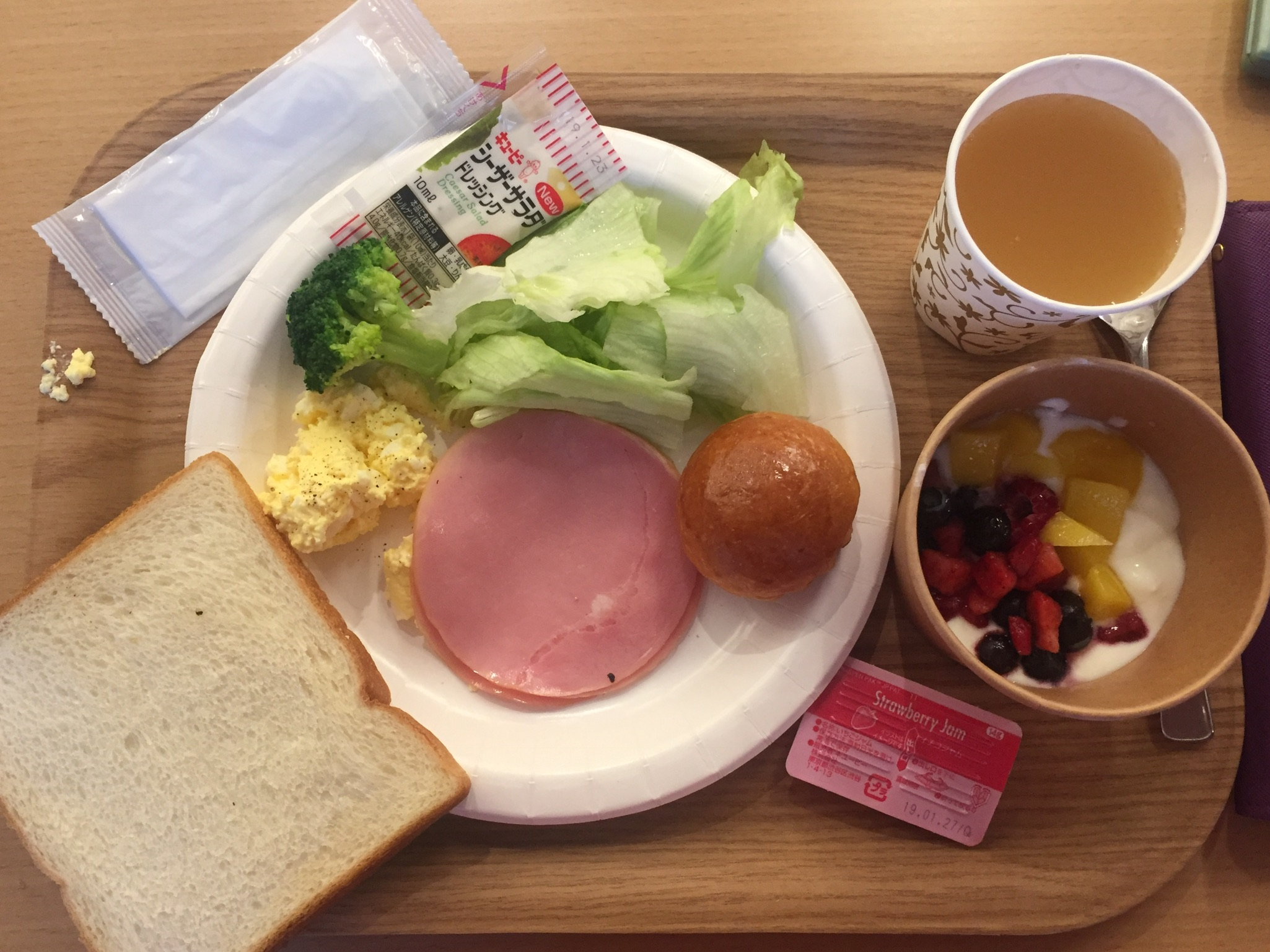 Western and Japanese style breakfast.