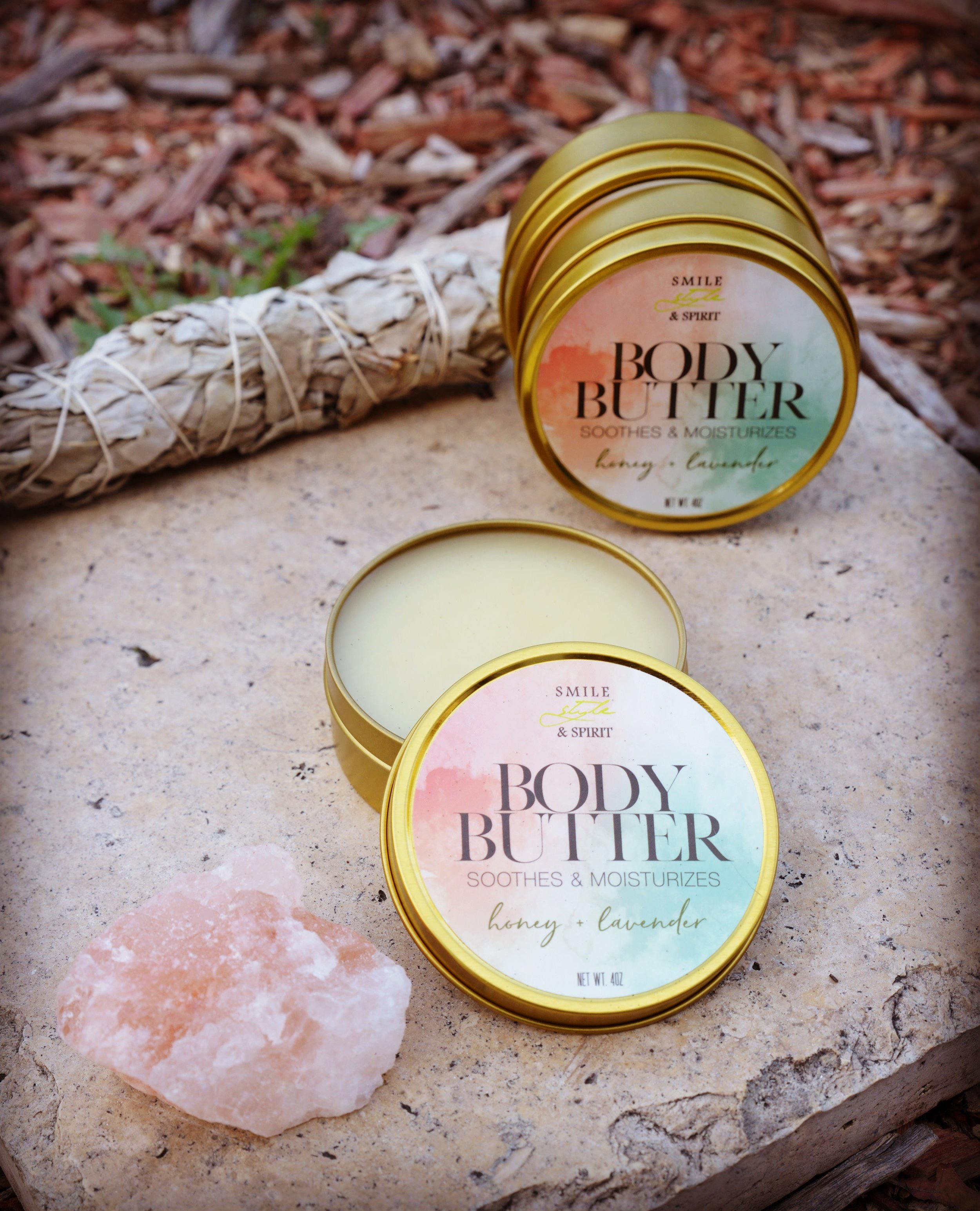 "Smile Style & Spirit   Smile Style & Spirit is LA & San Francisco based. We specialize in homemade Body Butters with all natural ingredients.  We are a faith based company. Wanting everyone to exercise Grace to their selves by giving yourself daily self-love and care. "" When You're Walking in Your Calling you Can Deliver a Powerful Message ""™"