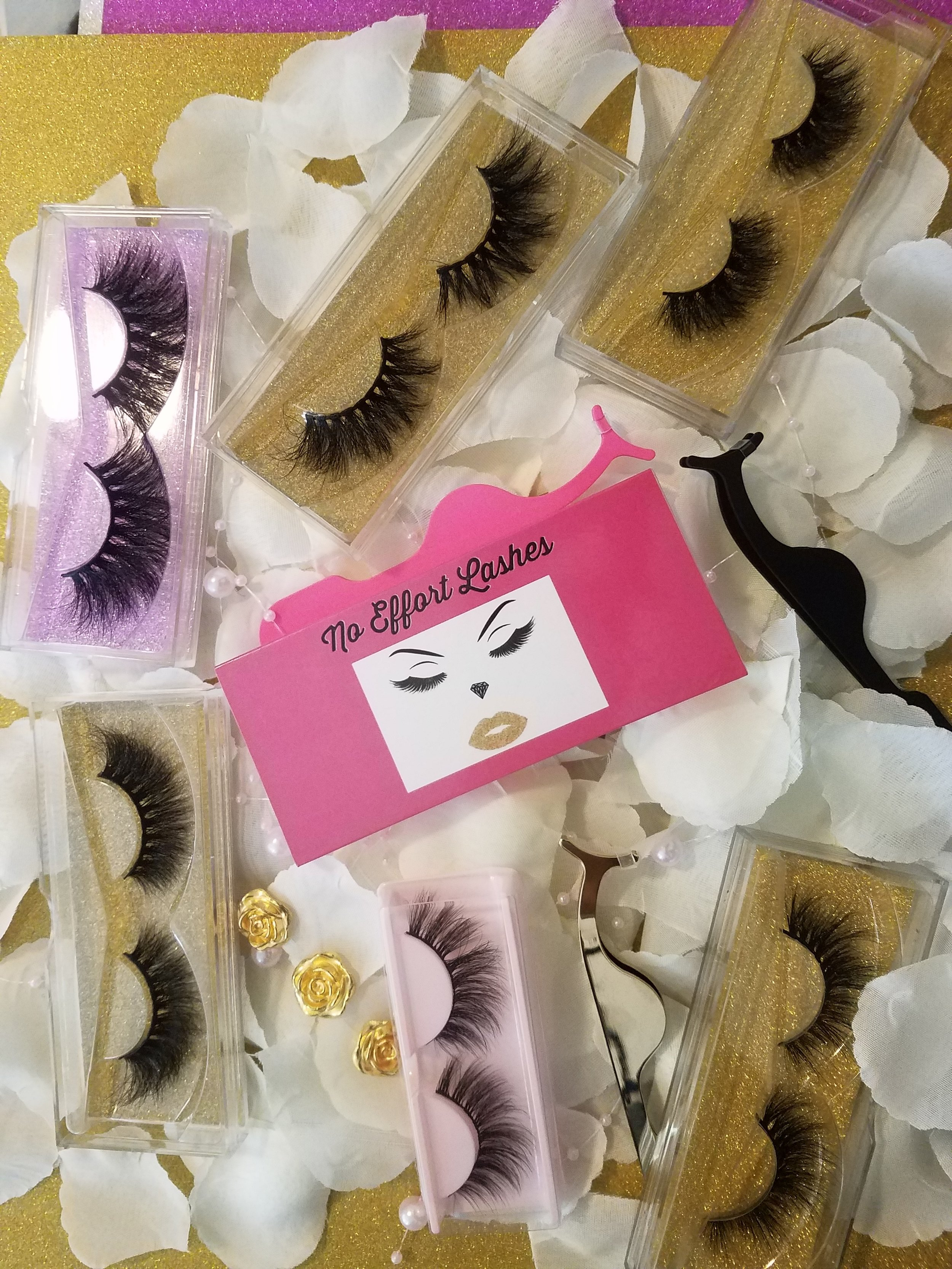 No Effort Lashes   No Effort Lashes is a black owned mink lash supplier company. I provide Luxury minks in lengths 18mm to 25mm. We have over 10 different styles to choose from.