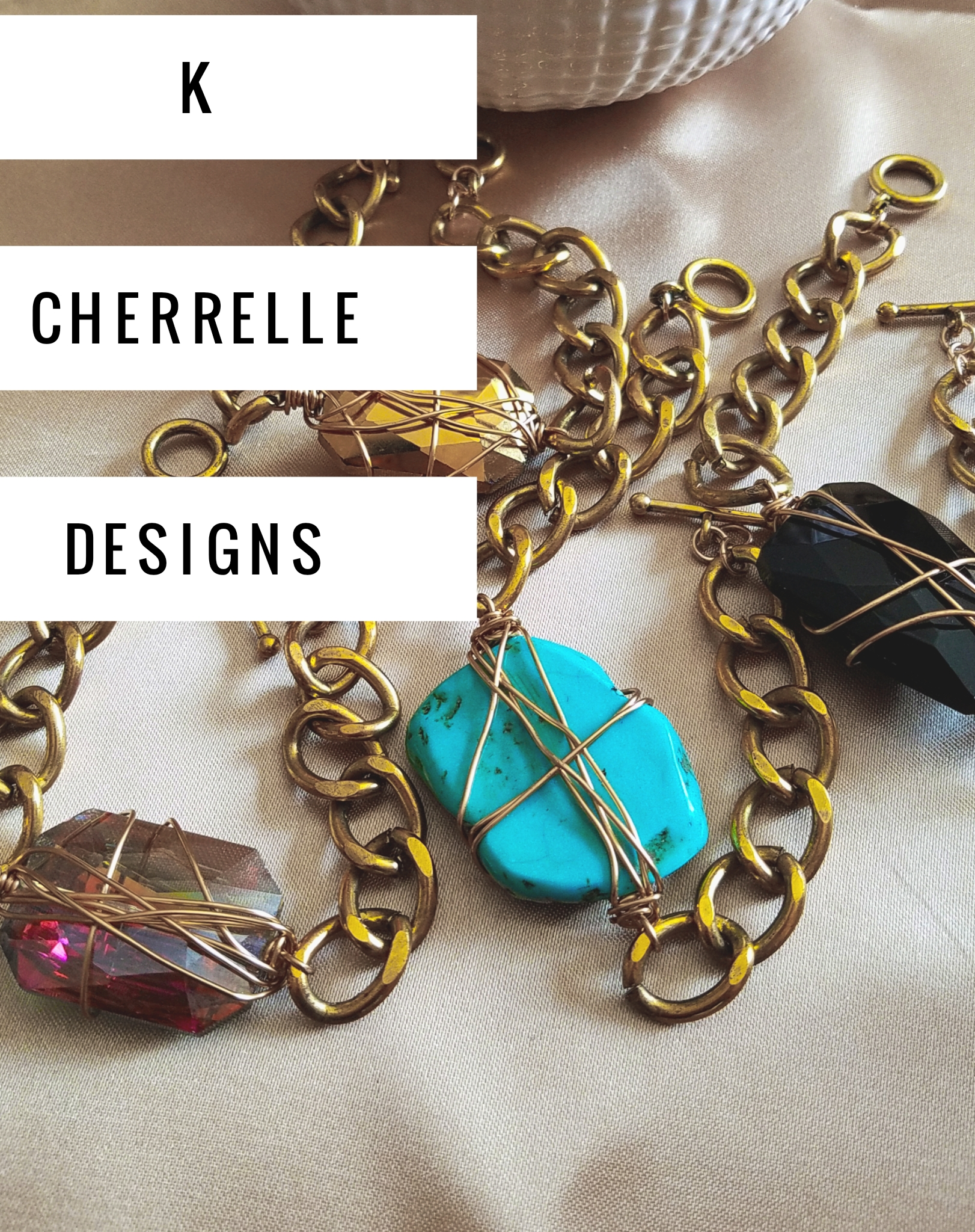 "K Cherrelle Designs   K Cherrelle Designs creates for the woman who knows that she is ""Unique"" by no accident. She's confident in whom she is and what she does; she's urban with a twist and her style is an expression of what her soul says she is; and she wears it well  Kim Cherrelle began designing and fabricating Handcrafted accessories close to 20 years ago. It has always been her passion to create fashion jewelry pieces that could be passed down for years to come. The designs are unique and you can almost tell a K Cherrelle design anywhere. She uses the best in brass, gold over brass, gold filled, 925 sterling silver, glass, Swarovski Crystals, wood, leather and more.  "" I believe that Every woman has her own unique style...something that makes her stand out. I design for the woman who knows that creating her own style is worth every compliment."""