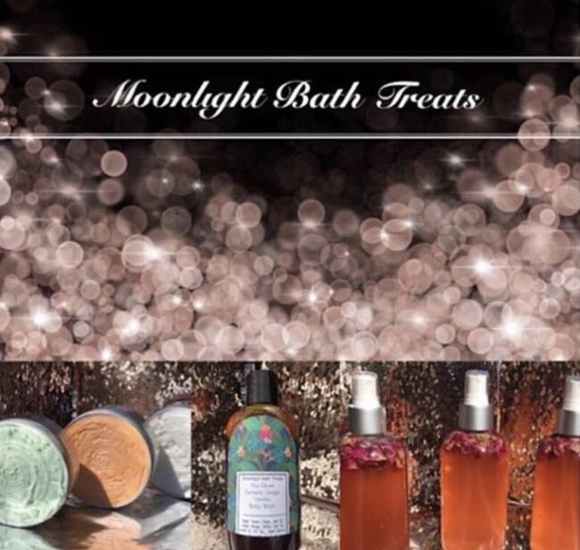 Moonlight Bath Treats   Moonlight Bath Treats Are vegan skincare products. They are handmade with plant based ingredients & reasonable prices for all to enjoy. These skincare products will help restore, & enhance ones natural beauty.