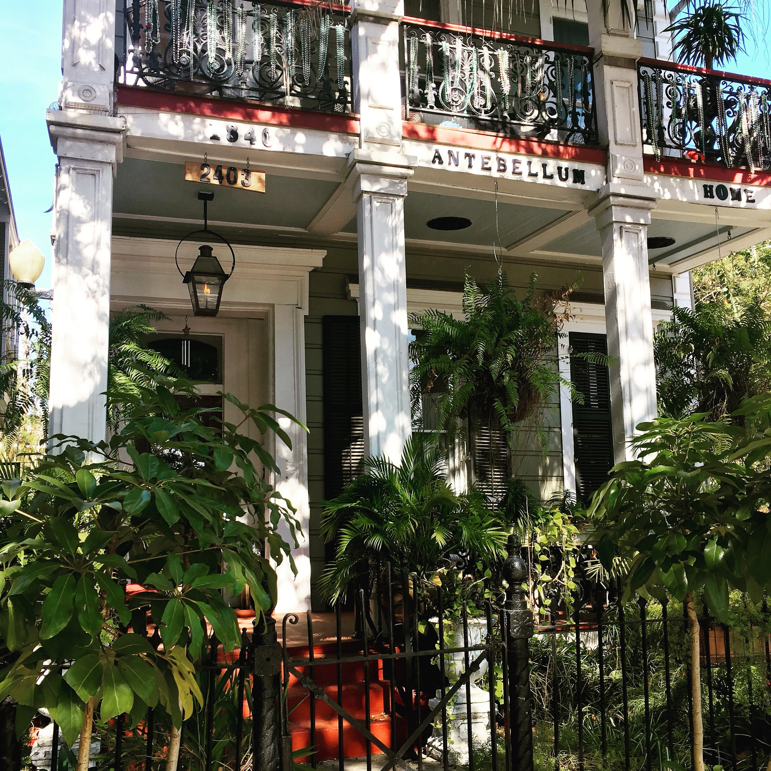 Antebellum home c1840 of the Garden District, New Orleans (image by Jacqui Gibson).