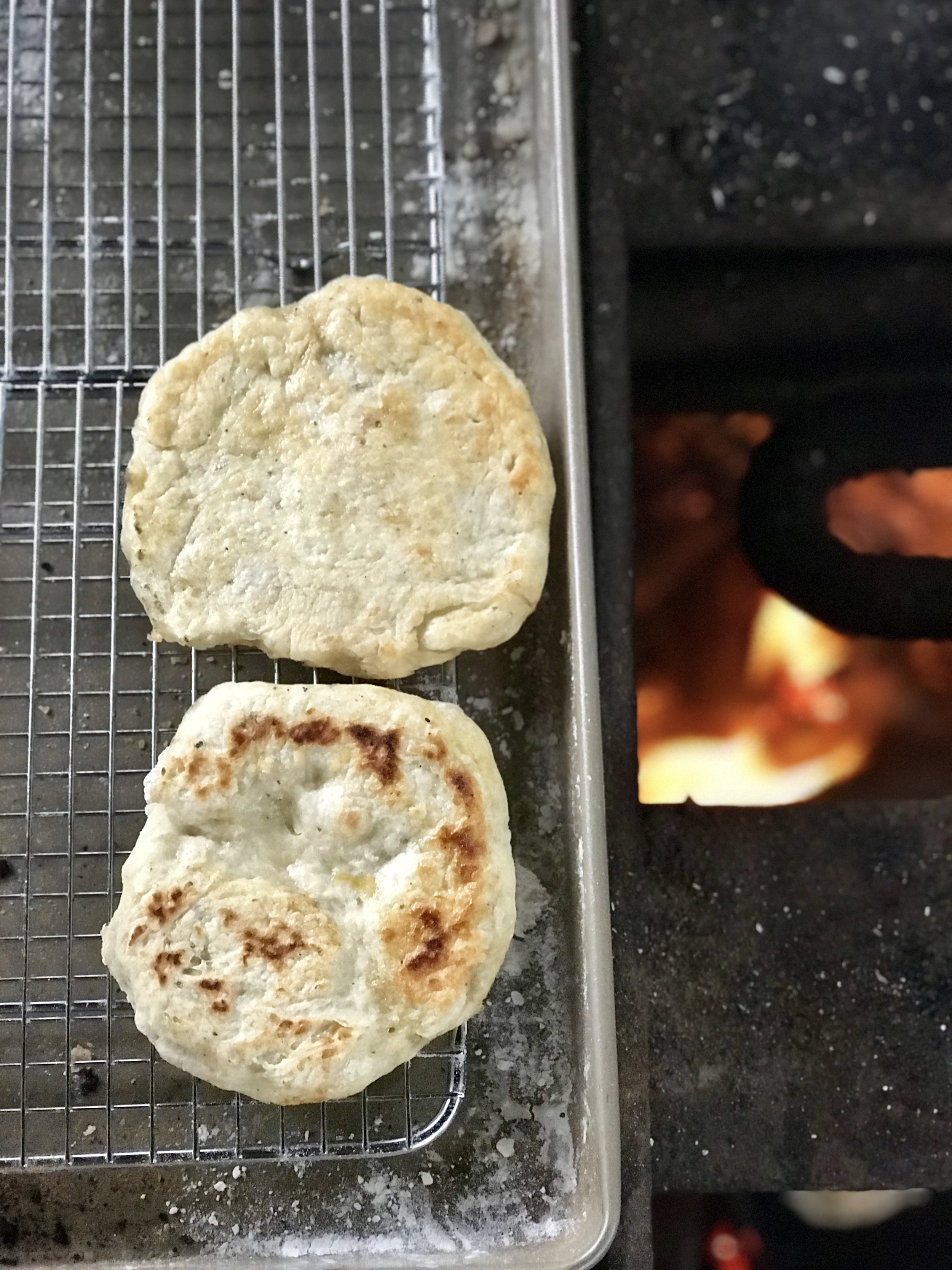 Mini pizzas in the making (image by Jacqui Gibson).