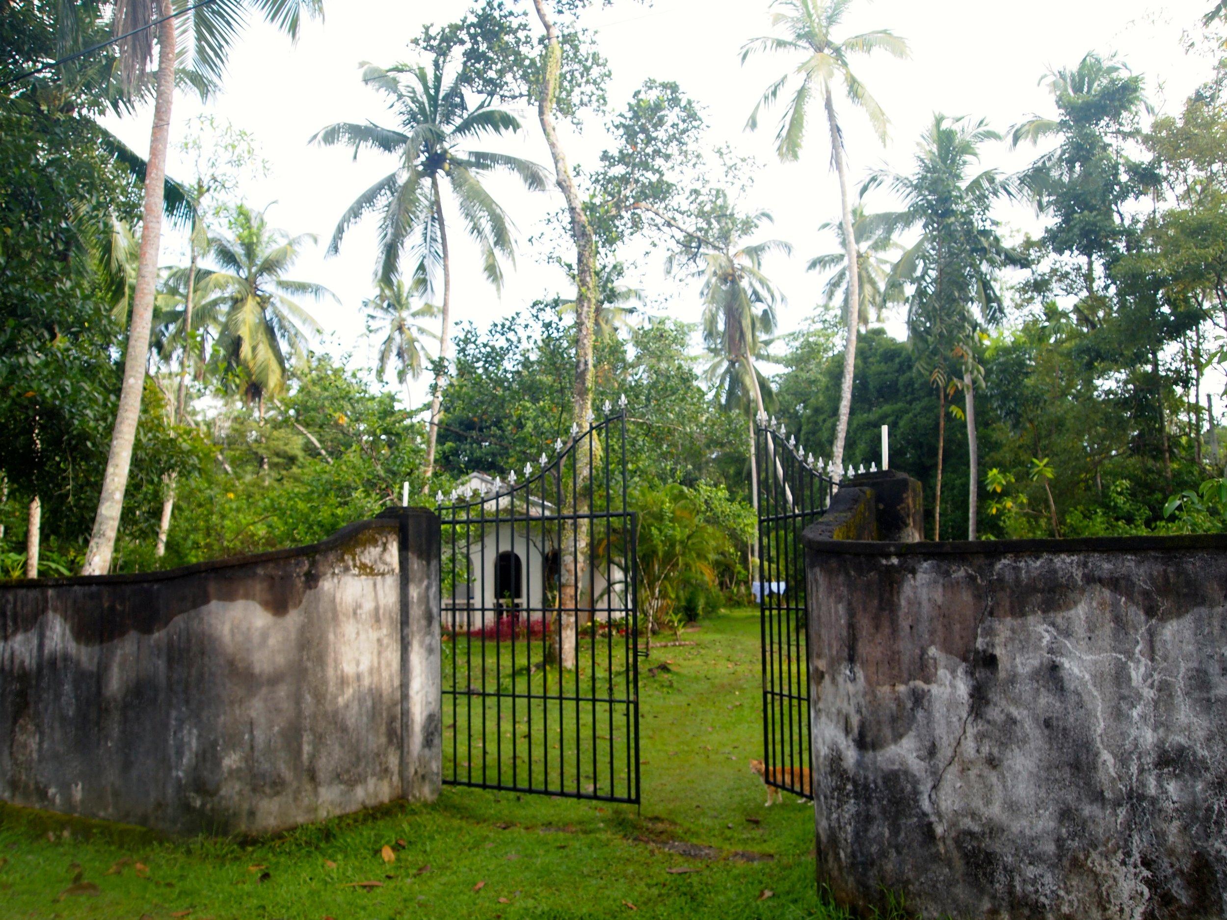 Entrance to Nisala Arana, Bentota, Sri Lanka (image by Jacqui Gibson).