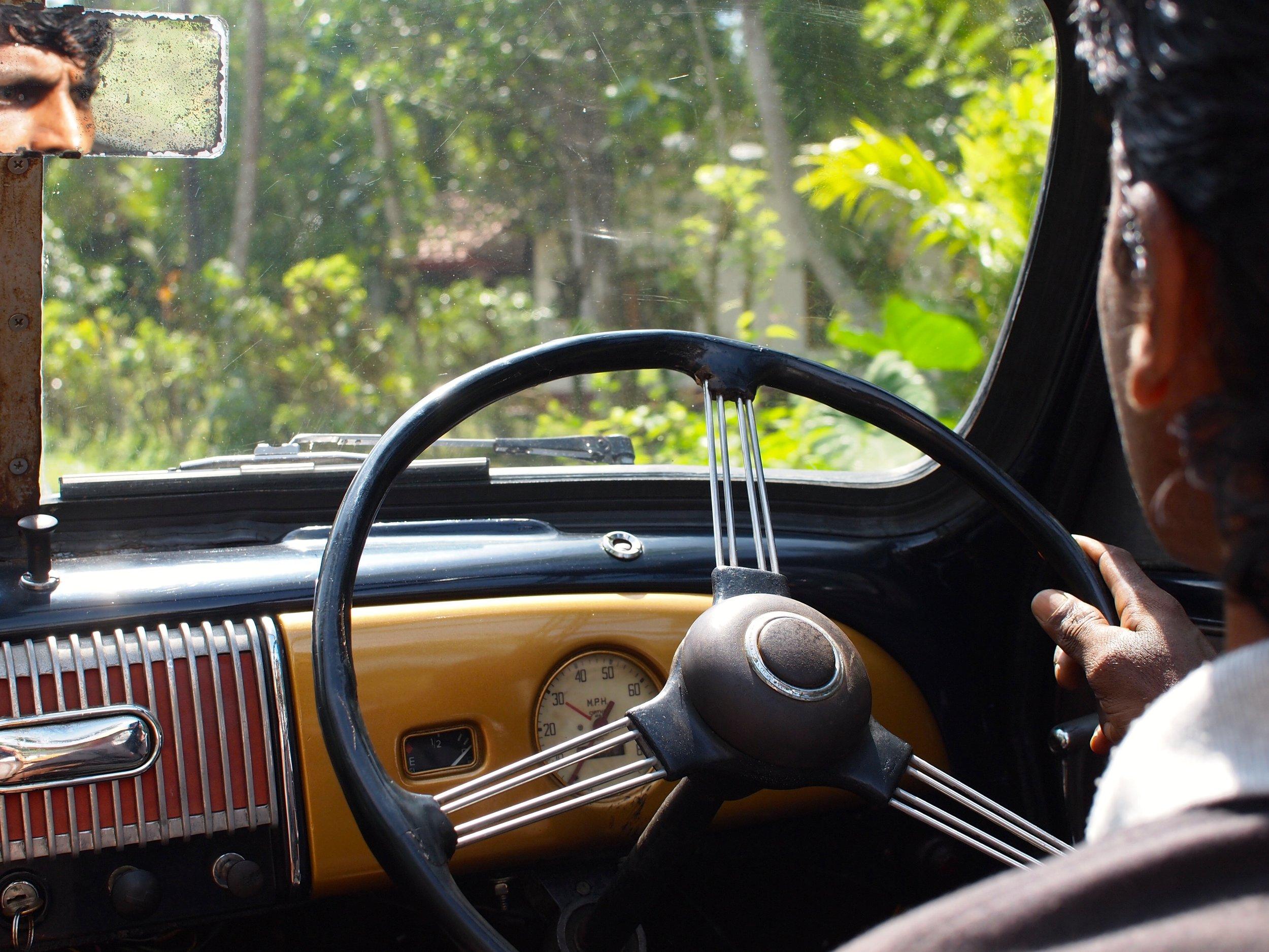 The drive to Lunuganga, Sri Lanka (image by Jacqui Gibson).