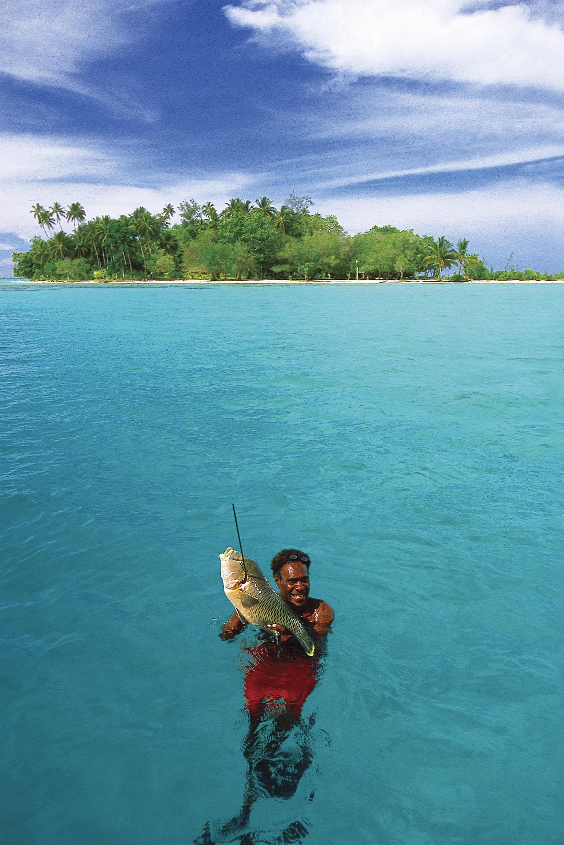 Fishing in the Solomon Islands (image care of Solomon Islands Visitors Bureau).