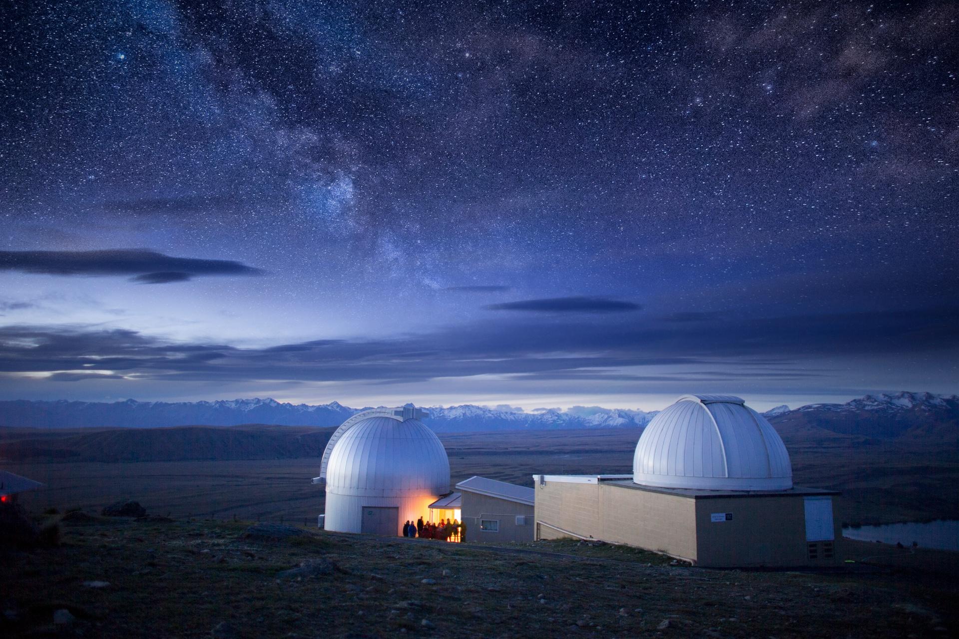 Lake Tekapō observatory, New Zealand (image care of Tourism New Zealand).