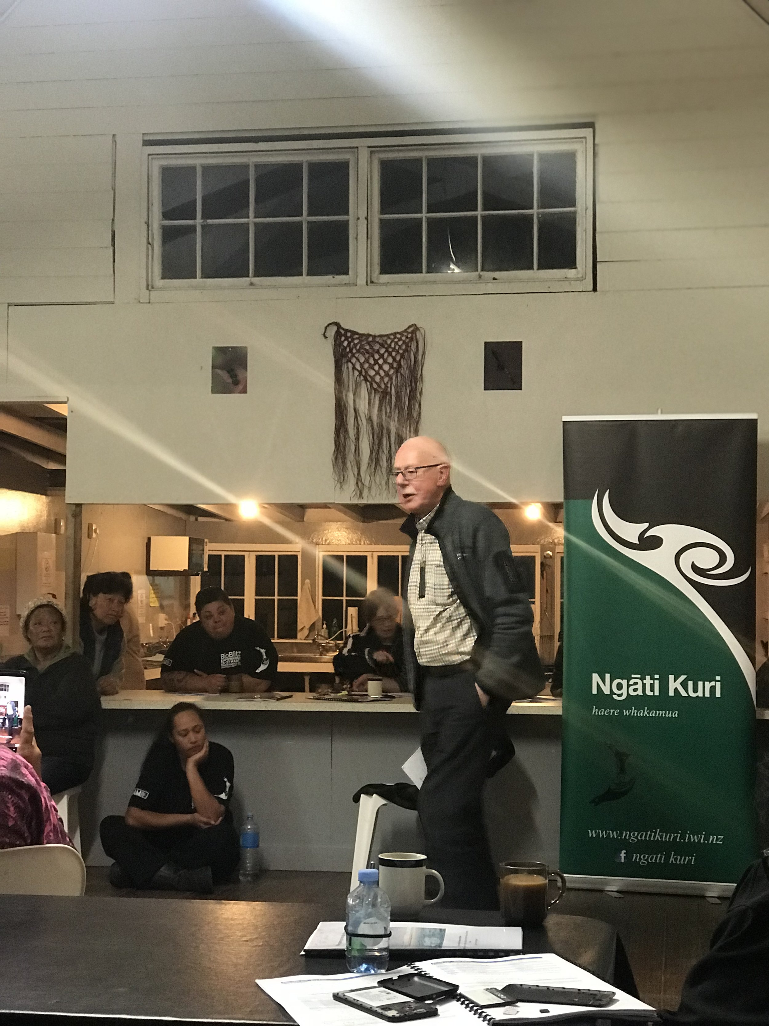 Former DSIR scientist and long-time supporter of Ngāti Kurī, Oliver Sutherland (image by Jacqui Gibson).