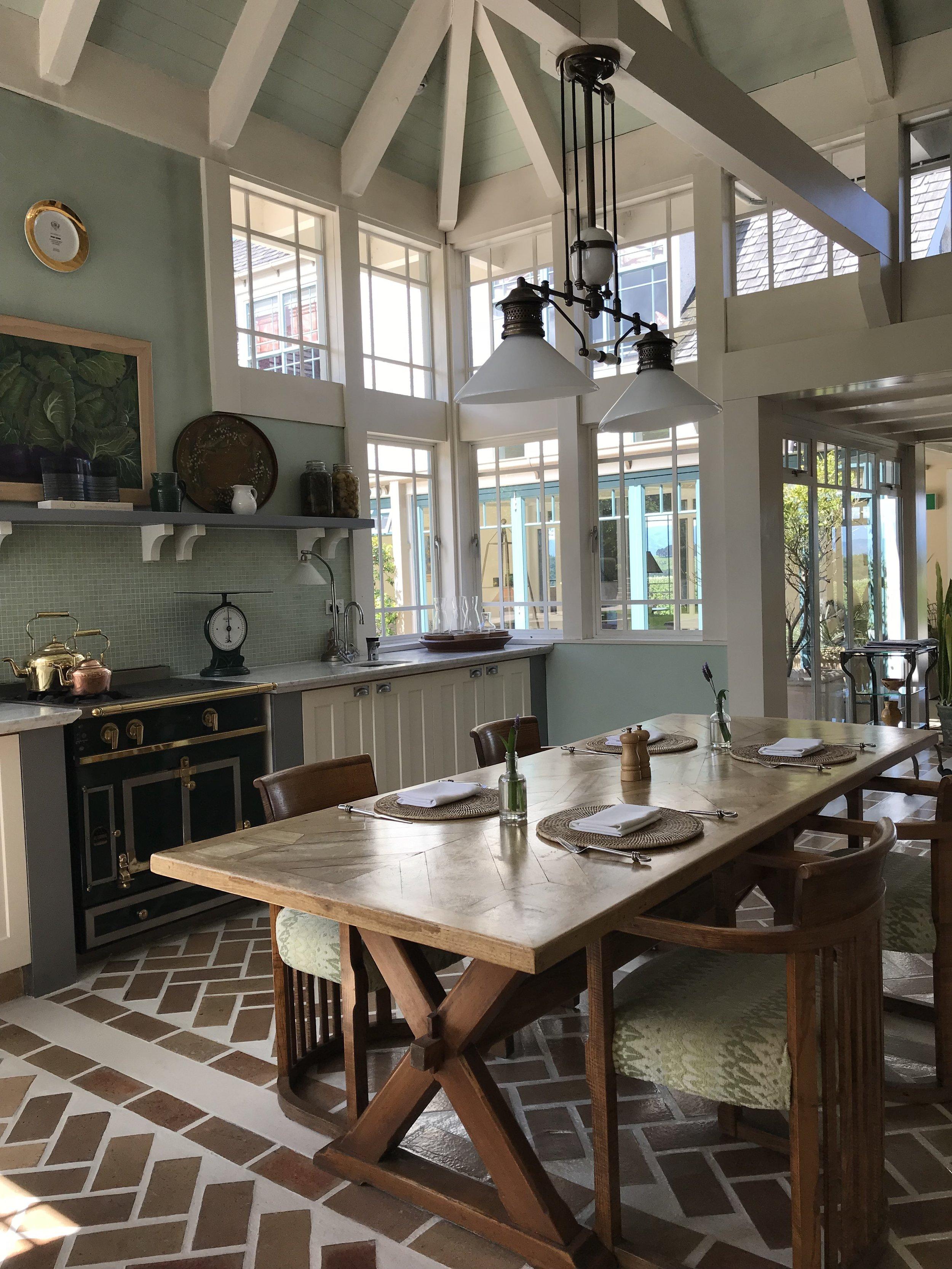 Country cottage kitchen of Wharekauhau (image by Jacqui Gibson).